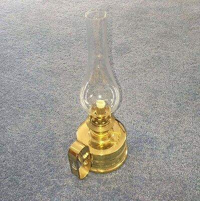 Brass Oil Lamp - Made in Wales