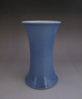 Old Chinese Light Blue Glaze Porcelain Brush Pot