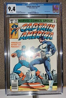 Captain America #241 - CGC 9.4 - White Pages - Punisher Appearance - Brand New