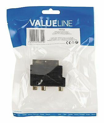 Valueline Umschaltbarer SCART AV Adapter SCART Stecker 3x Cinch S-Video Ausgang