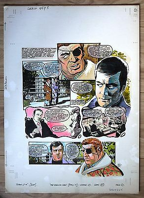 Six Million Dollar Man Original Art Page From Look-In