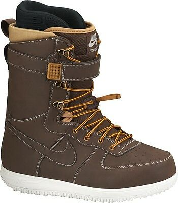 NIKE SB Zoom Force 1 Mens Snowboard Boots Brown ZF1 UK 10 Very Rare NEW BOXED