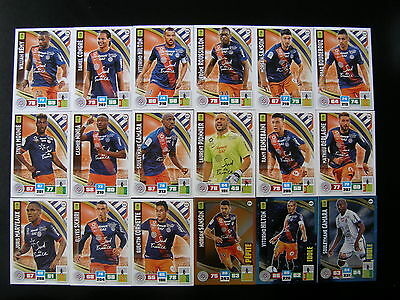PANINI ADRENALYN XL FOOT 2016-2017 - MONTPELLIER EQUIPE  - 18 cartes neuves