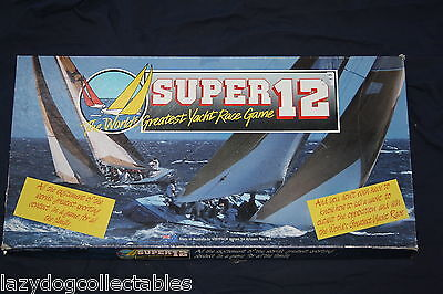 Retro Board Game SUPEr 12 Yacht Racing Game Complete