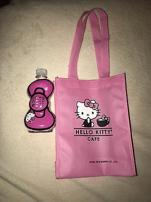 Hello Kitty Cafe Water Bottle And Small Bag Pink