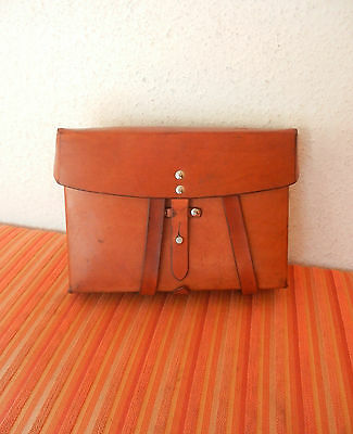 TOP Swiss Army Military Card holder leather bag shoulder cards pocket ca. 1975