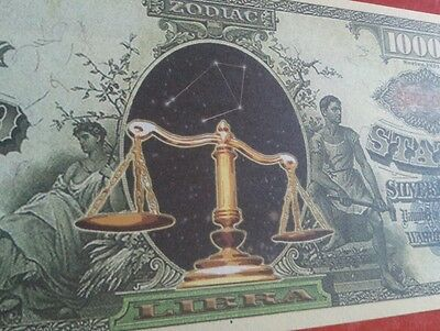 Your star sign banknote Gemini Cancer Pices etc zodiac notes
