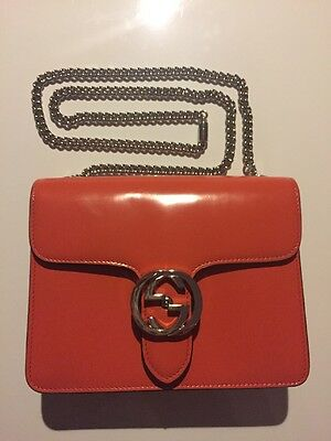 Fall 2015 Authentic Gucci Orange Leather Bag Handbag Mint Condition