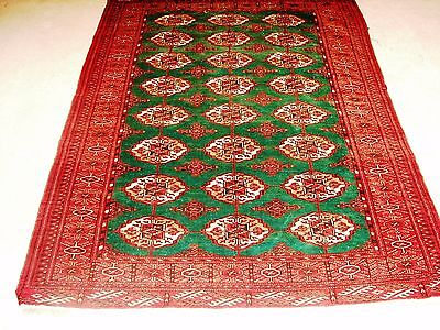 Persian Turkman Authentic Vintage/Antique Hand Knotted Rug