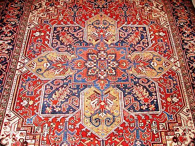 Persian Heriz Authentic Hand-Knotted Collectable Rug
