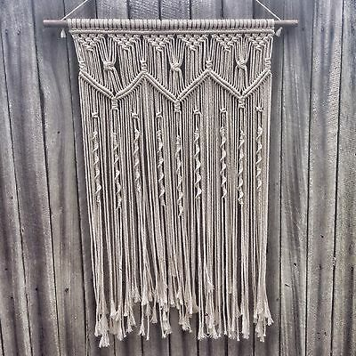 Macrame Wall Hanging 60x80cm Art Handmade Boho Decor Spell Gypsy And Lily Design