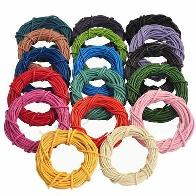 100% Real Round Leather Cord - 1,1.5,2,2.5,3MM String Lace Thong Jewellery DIY