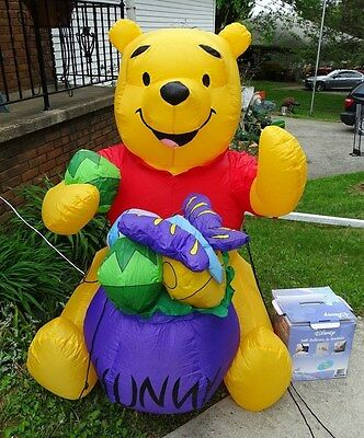 Gemmy 5' Airblown Inflatable Light Up Winnie the Pooh Easter Indoor/Outdoor