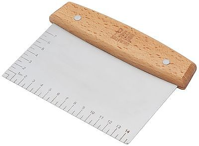 Stainless Steel Dough Scraper / Cutter 16.5 x 11.5 cm (6.5 x 4.5) - UK SELLER