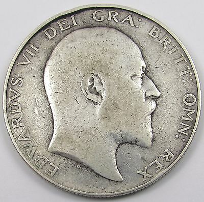 KING EDWARD VII SILVER HALF-CROWN COIN dated 1906
