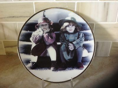 """Pretty as a picture Plate by Enesco """" We're two of a kind """""""