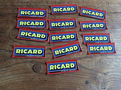 Lot anciens autocollants stickers Ricard / pernod