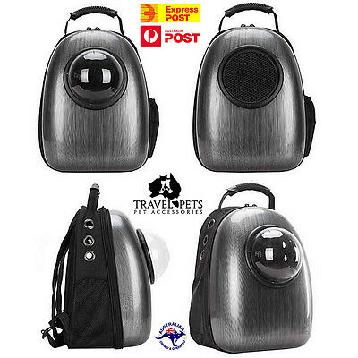 Cat Dog Pet Animal Backpack Carrier Fun Unique Bag Travel Transport Dome Viewer
