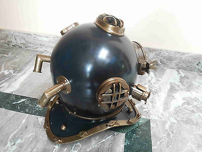 Antique Vintage Diving Helmet Brass Divers Maritime U.s Navy Mark V Collectible