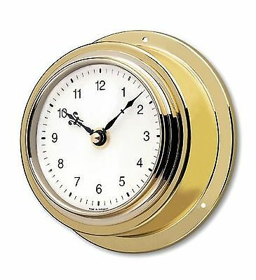 TFA Brass Case Mariner Clock