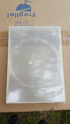 100 PREMIUM Clear Blu-Ray Single DVD Cases 14MM NEW FREE SHIPPING