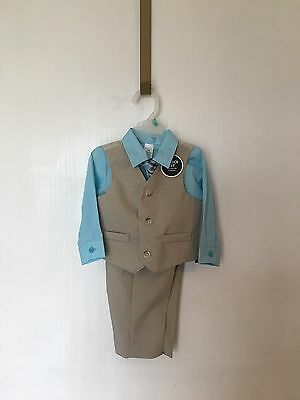 NWT Baby Boys Dress Pants Suit Wedding Church Clothes Outfit  6-9 Months