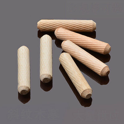 6mm x50mm Diameter Grooved Fluted Wooden Wood Dowels Pins for Woodworking Craft