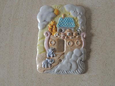 Noah's Ark switch plate cover nursery baby room porcelain new by RUSS  CO