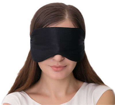 100% Quality Silk Sleeping Aid Eye Mask 2 Adjustable Straps Blackout Comfortable