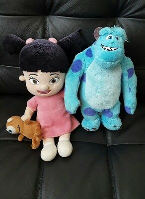 MONSTERS INC - BOO and SULLEY SOFT TOY PLUSH - DISNEY