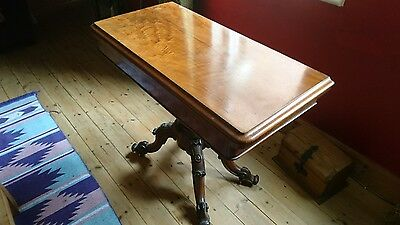 19TH CENTURY VICTORIAN  CARD TABLE (Rosewood??)