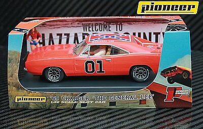 Pioneer Slot Car P016 Dukes of Hazzard Dodge Charger General Lee
