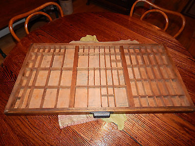 Antique Hamilton Midcentury Printers Drawer Letterpress Shadow Box Tray