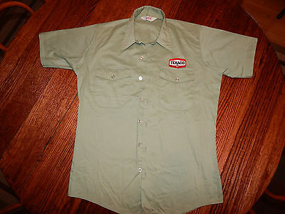1950's-60's Vintage Texaco Gas Station Attendant Shirt - Unitog Men's Medium