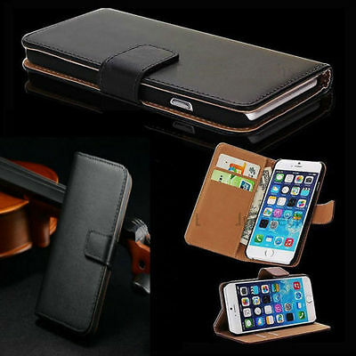 Genuine PU Leather Magnetic Flip Cover Wallet Case For iPhone 7  (266