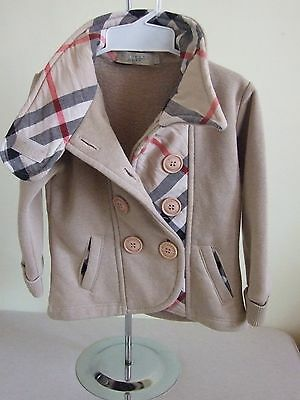 Burberry Brit baby girls nova check jacket trench coat 92 - 98 cm 2 - 3 years