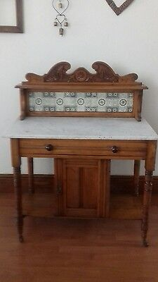 Lovely Old Marble Top Wash Stand