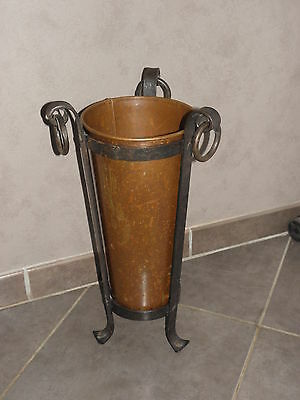 Antique Umbrella Stand copper Hammered goardere Antique old mid century carry