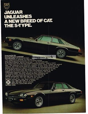 1976 Jaguar XJS Brown 2-door Coupe Vtg Print Ad