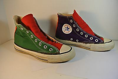 Vintage Converse All Star Red Green Purple Size 6 Made in USA