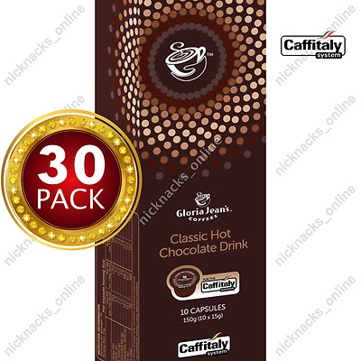 30 Capsules Gloria Jeans Coffee Classic Hot Chocolate Drink Pods Caffitaly