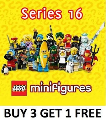 LEGO Minifigure Pick Choose Series 16 Banana Spy Devil Pirate Hiker Penguin Ice