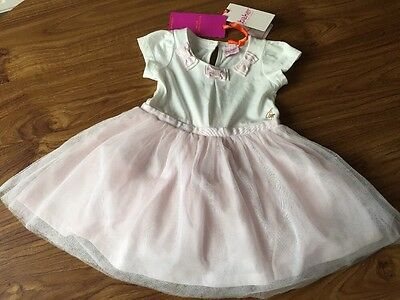 Baby Girls Ted Baker Dress Pink White & Pink Tutu 9-12 Mths  BNWT New Inc Tags