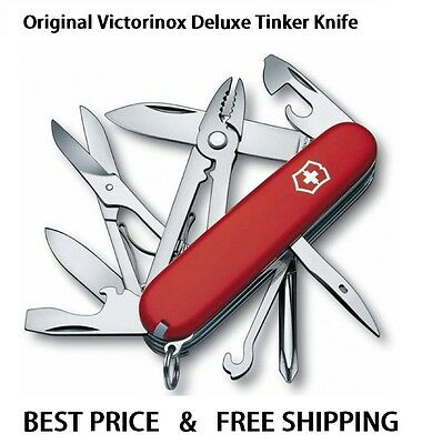 1.4723 Victorinox Swiss Army Pocket Knife Deluxe Tinker Red 17 Tools 53481 35697