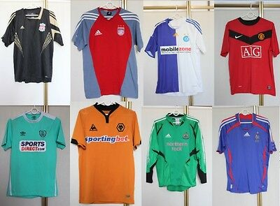 Wholesale Job lot of 76 Branded Adidas Nike Football Shirt Jersey Trikot PICS