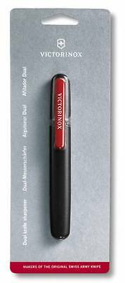 🌟🌟 4.3323 Victorinox Swiss Army Dual Pocket Knife Sharpener for kitchen knives
