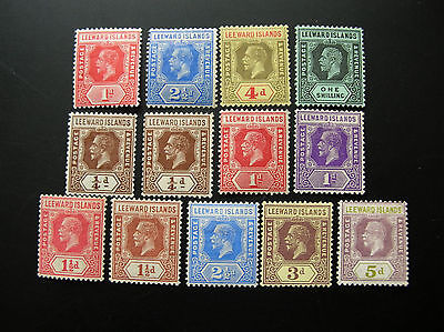 Leeward Islands George V Mounted Mint Range Cat £50+