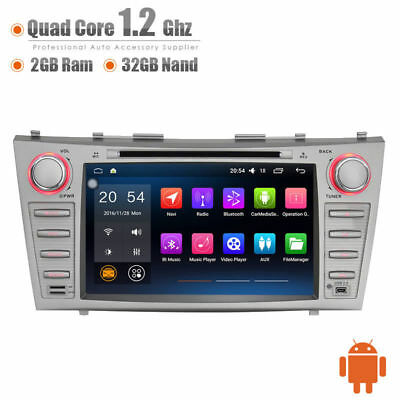 Car Android 6.0 Multimedia Player GPS RDS BT Head Unit  for Toyota Camry 07-11