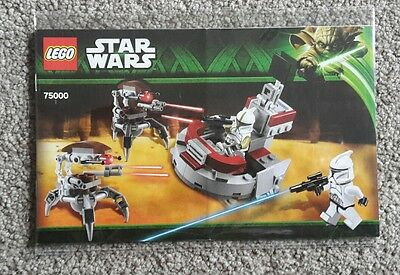 Lego Star Wars 75000 Clone Troopers vs Droidekas Instruction Manual NEW