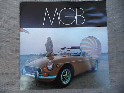 1969 MG MGB Showroom Sales Folder / Brochure